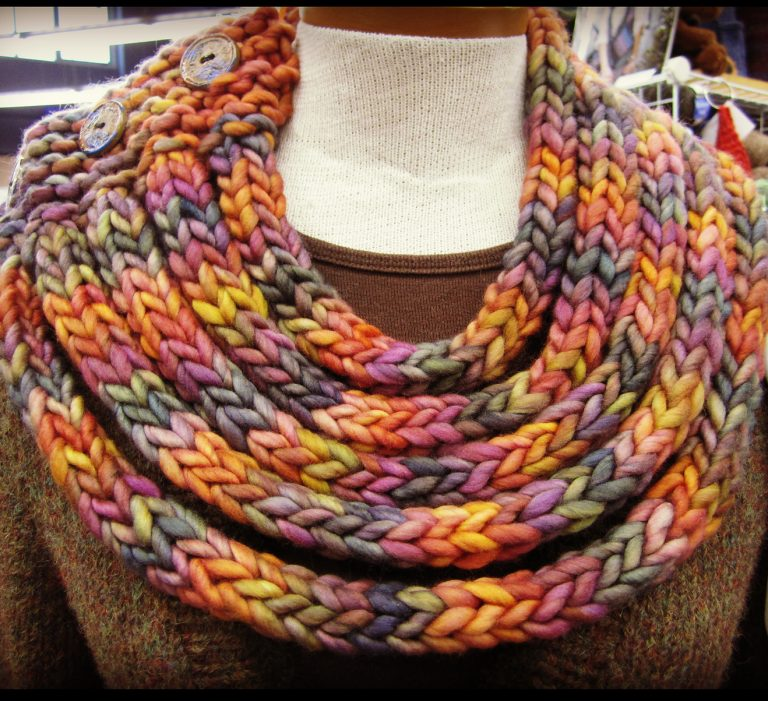 Free Knitting Pattern for Ropes Cowl of I-Cords