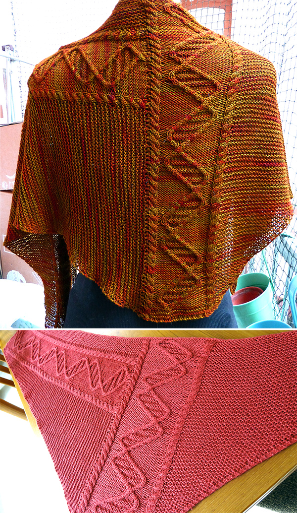 Knitting Pattern for Rosalind Franklin DNA Shawl