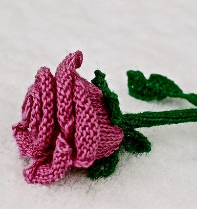 Free knitting pattern for Rose by Libby Summers