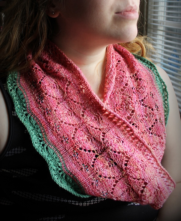Free Knitting Pattern for Rose Tree Cowl