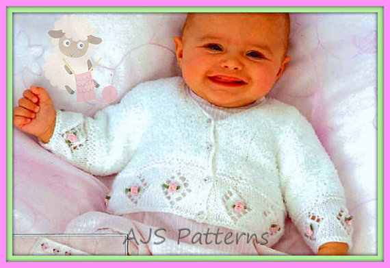 PDF Knitting Pattern for Babies/Childs Rosebud Cardigan,Blanket and Shoe Set | Baby and Toddler Sweater Knitting Patterns, many free patterns including cardigans, pullovers, jackets and more http://intheloopknitting.com/free-baby-and-child-sweater-knitting-patterns/