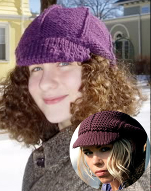Free Knitting Pattern for Rose's Slouchy Hat inspired by Doctor Who
