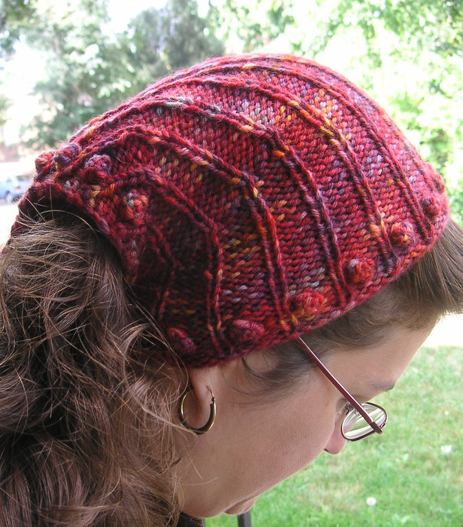 Free Knitting Pattern for Rosie the Riveter Kerchief