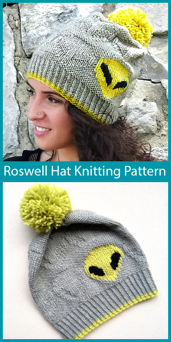 Knitting Pattern for Roswell Hat