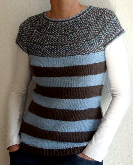 Free Knitting Pattern for Rotation Pullover Top