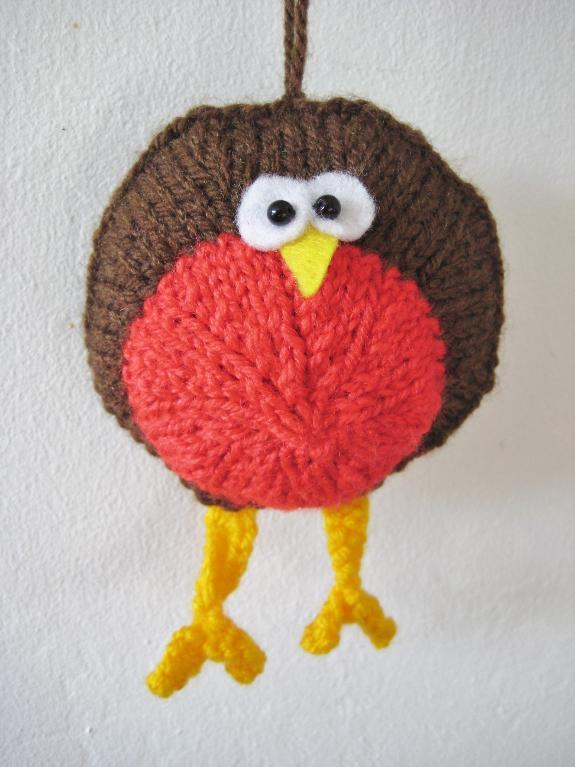 Free knitting pattern for Round Robin and more bird knitting patterns