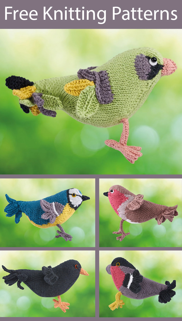 Free Knitting Patterns and Kits for Favorite Wild Birds