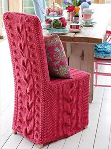 Free knitting pattern for Chair Cover