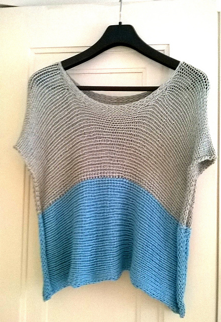 Free knitting pattern for Rowan Straight Top easy tee pattern