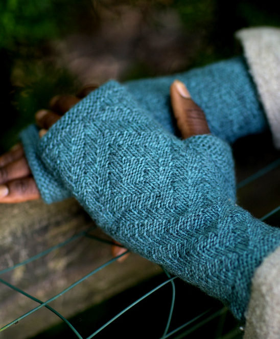 Free Knitting Pattern for Rowell Mitts