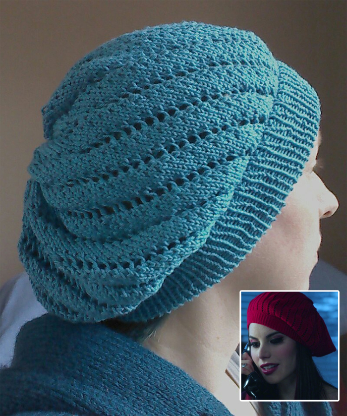 Free Knitting Pattern for Once Upon a Time - Ruby's Beret
