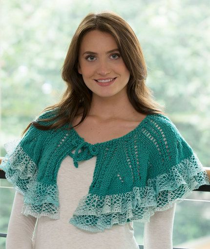 Free Knitting Pattern for Ruffle or Not Capelet