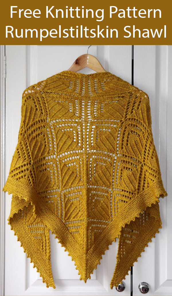 Free Knitting Pattern for Rumpelstiltskin Shawl