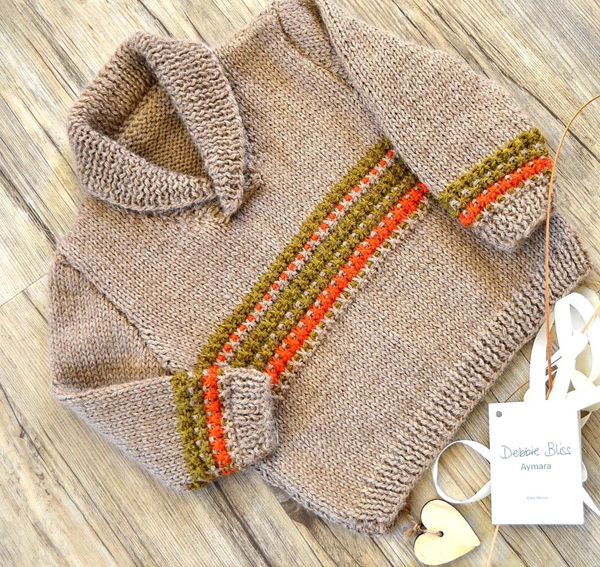 Knitting Pattern for Rustic Baby and Toddler Sweater