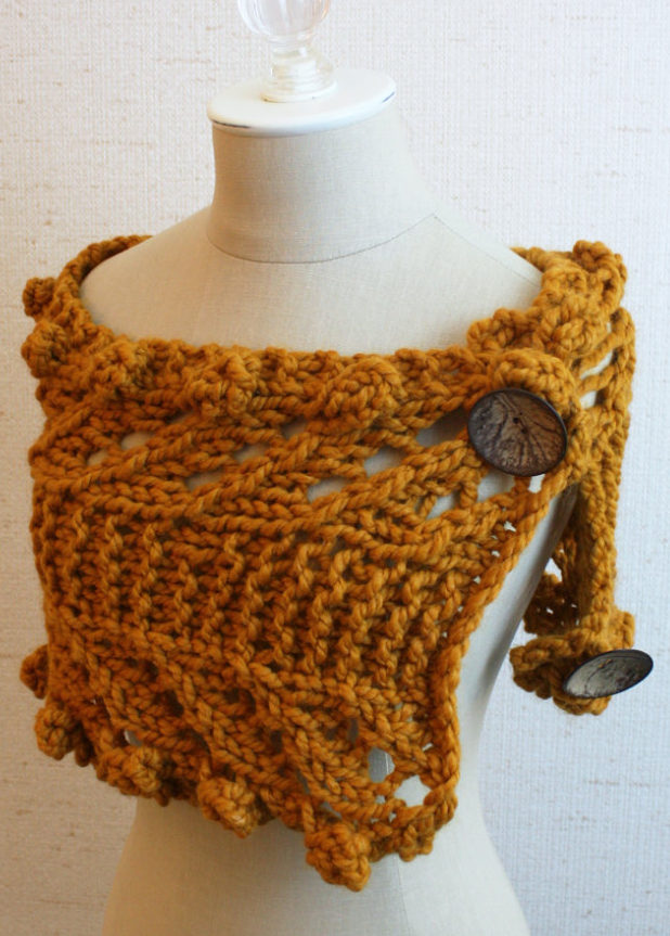 Knitting Pattern for Quick Versatile Rustico Cowl