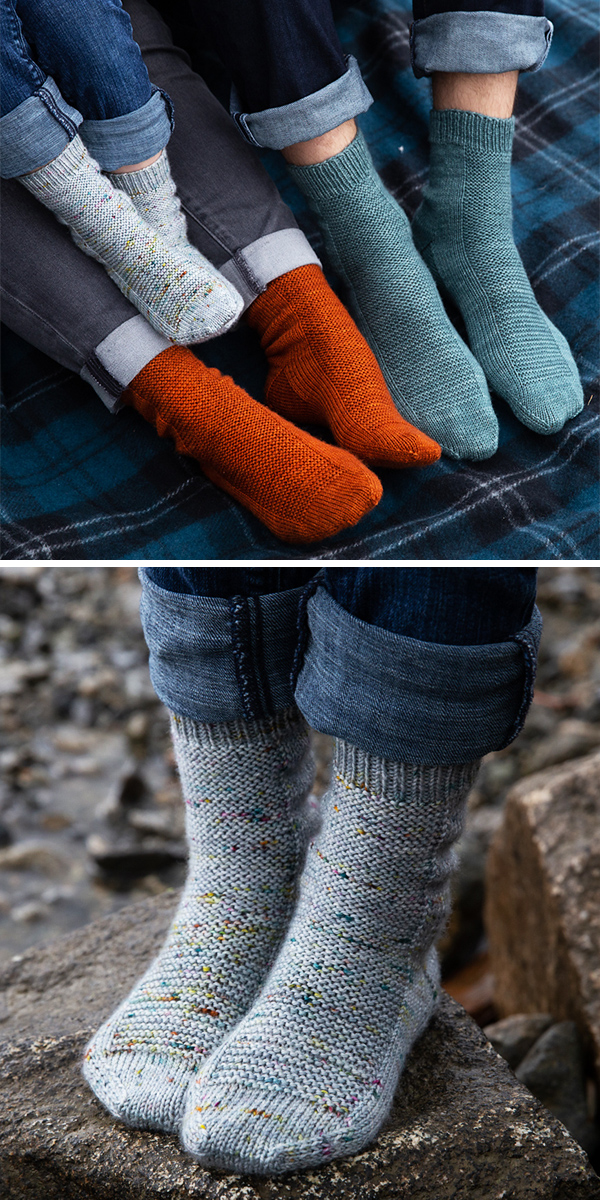 Free Knitting Pattern for Easy Learn to Knit Rye Light Socks