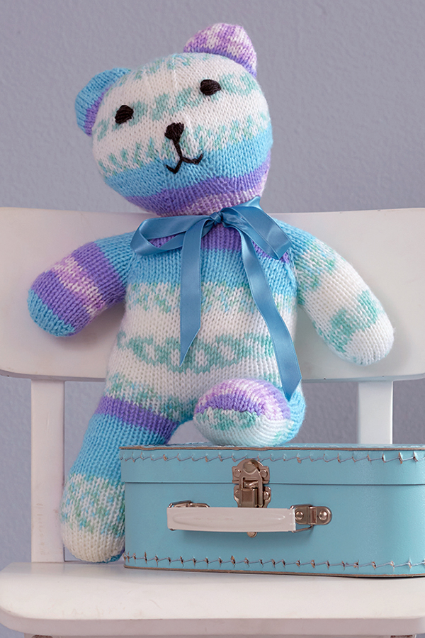 Free Knitting Pattern for Baby Smiles Teddy