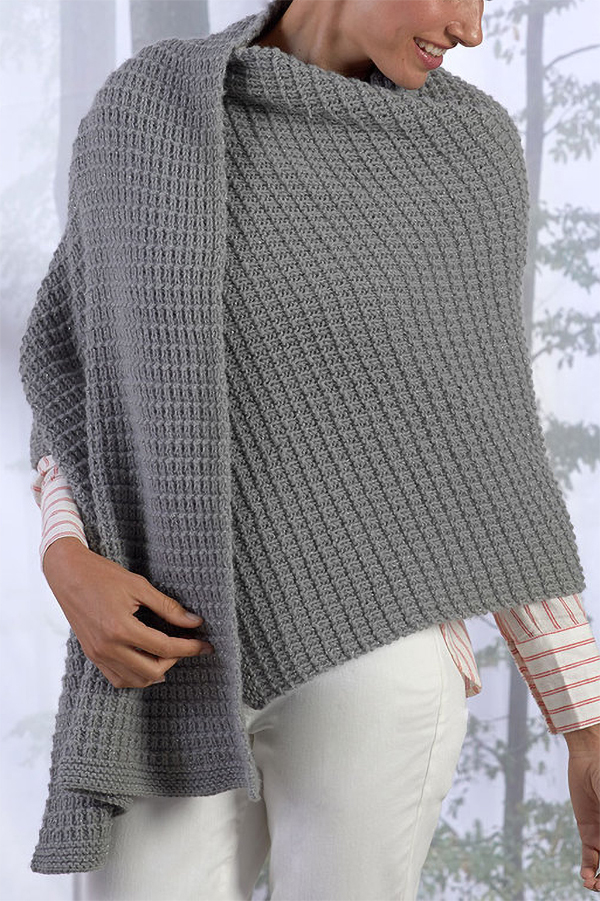 Free Knitting Pattern for 4 Row Repeat Safe Haven Shawl