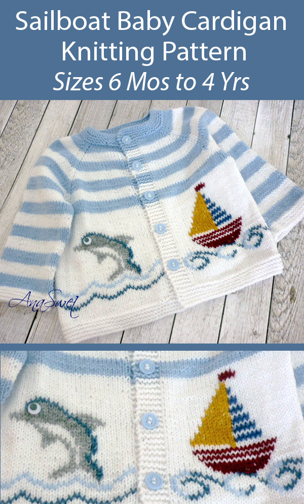 Baby Knitting Pattern for Sailboat Baby Cardigan