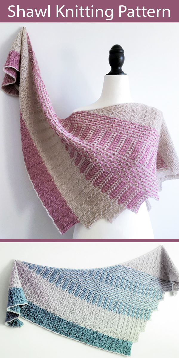 Knitting Pattern for Sakura Season Shawl
