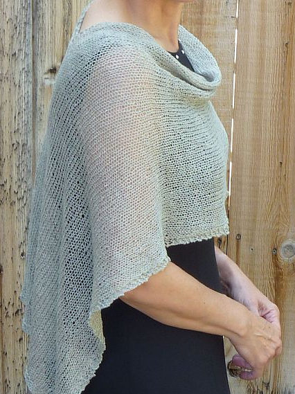 Free Knitting Pattern for Same Thing Only Different Poncho