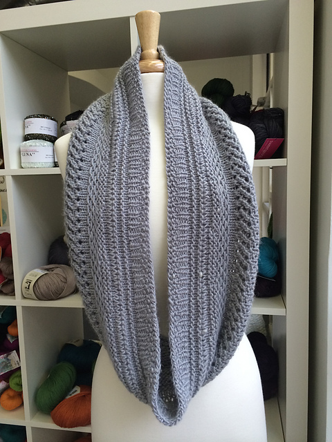 Free knitting pattern for Sampler Cowl and more stitch sampler knitting patterns