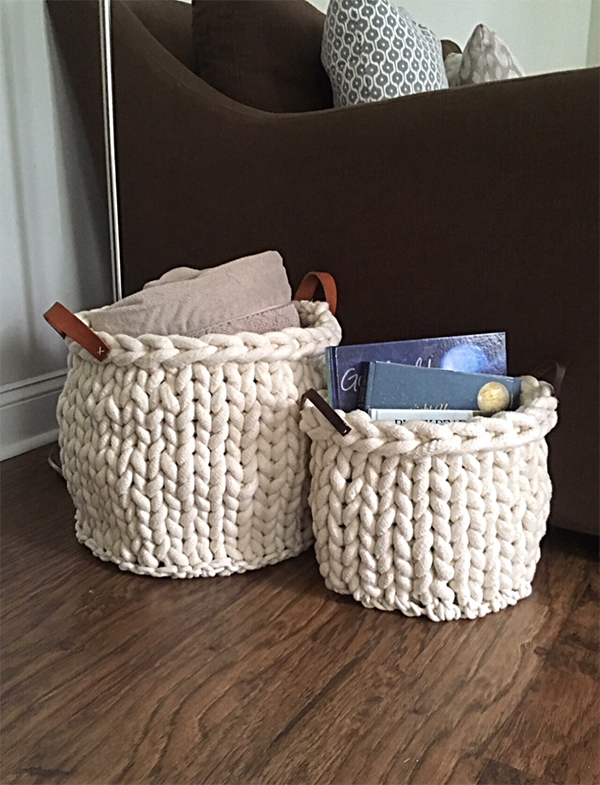 Free Knitting Pattern for Sandhills Basket