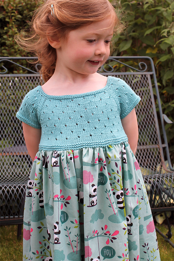 Free Pattern for Knit and Sew Eyelet Dress