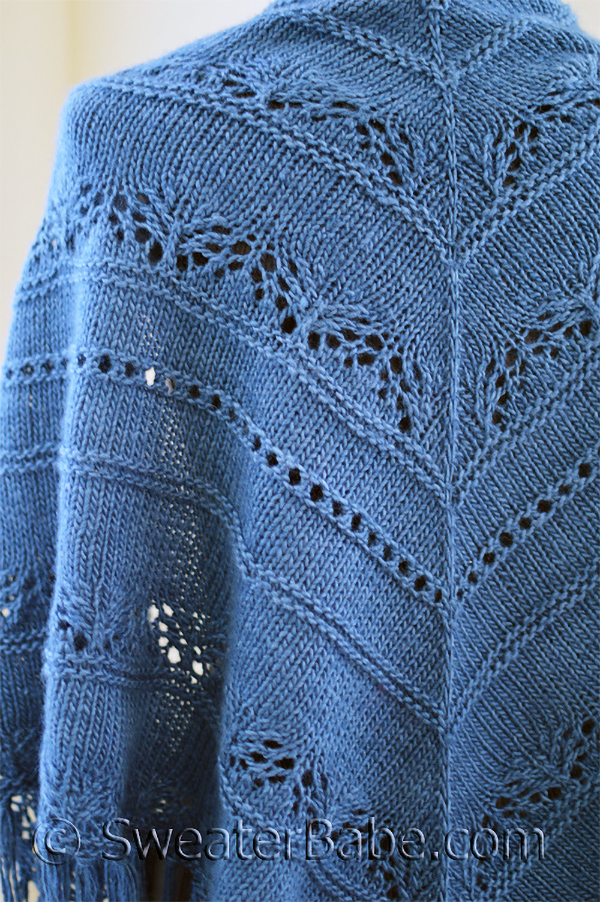 Knitting Pattern for Sapphire Lace Shawl