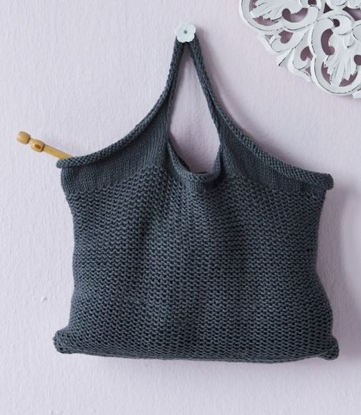 Free knitting pattern for tote bag