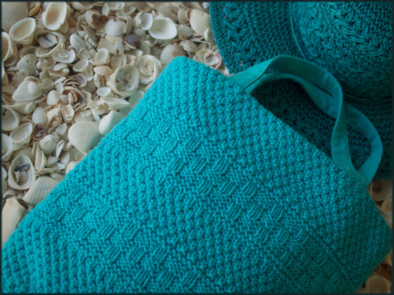 Knitting pattern for Sarasota Shopper tote bag