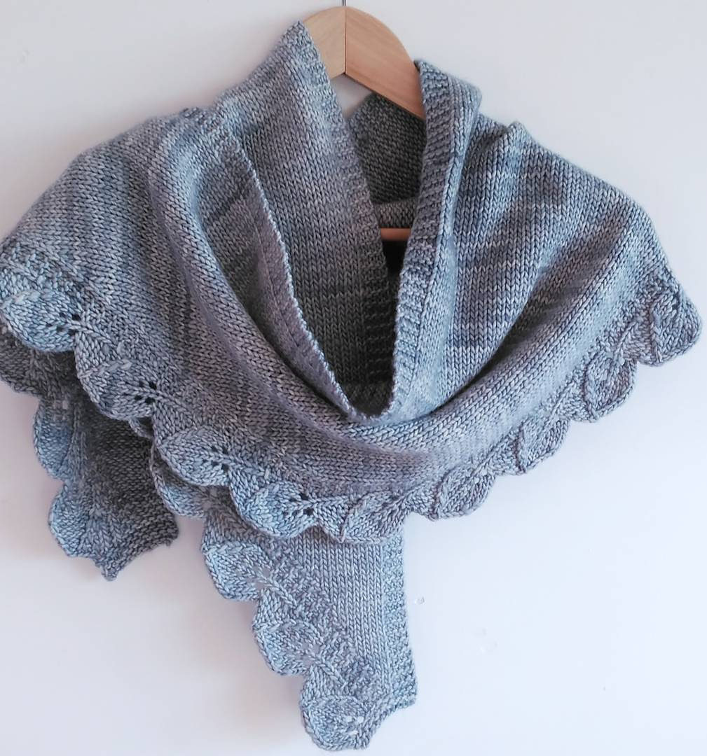 Free Knitting Pattern for Saroyan Shawl