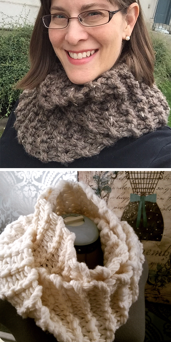 Free Knitting Pattern for Easy Sassenach Cowl