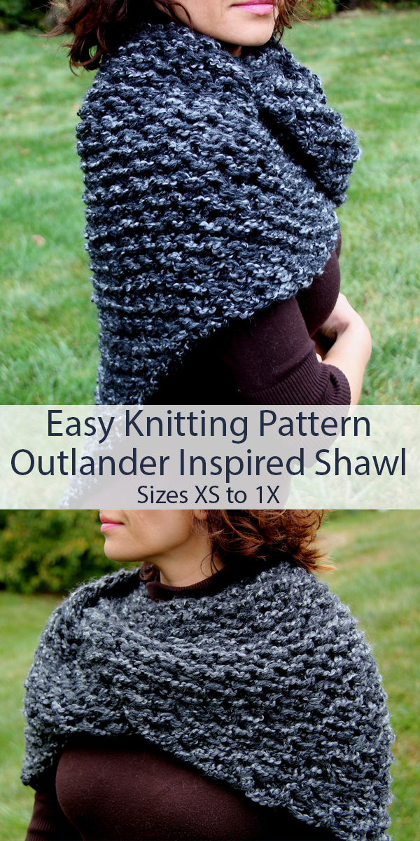 Easy Knitting Pattern for Outlander Sassenach Shawl
