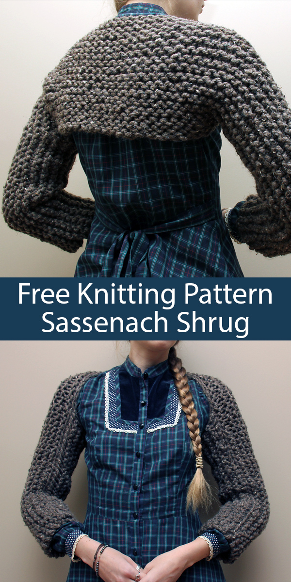 Sassenach Shrug Free Knitting Pattern | Outlander Inspired Knitting Patterns at http://intheloopknitting.com/outlander-inspired-knitting-patterns/