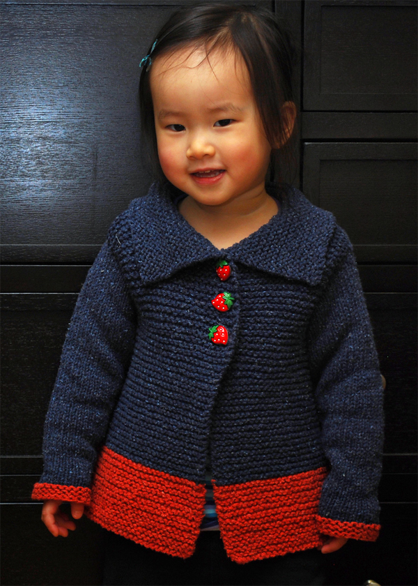Free Knitting Pattern for Sawtelle Child's Cardigan