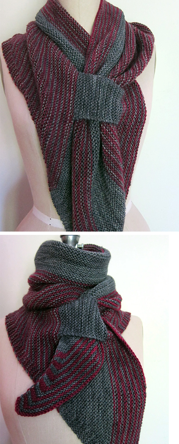 Knitting pattern for Scalene Scarf