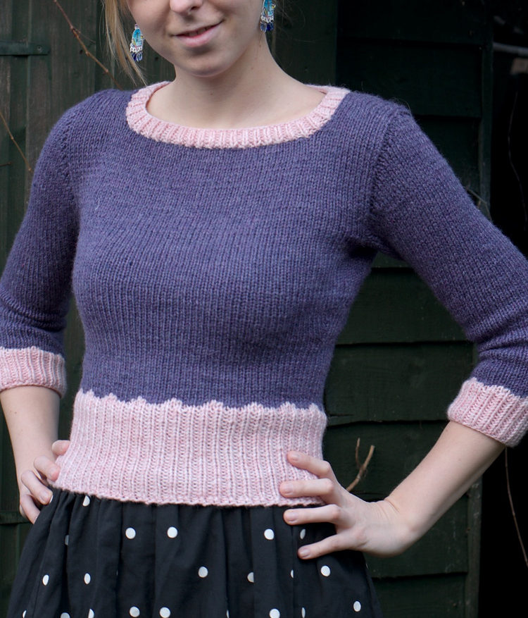 Free Knitting Pattern for Scalloped Sweater