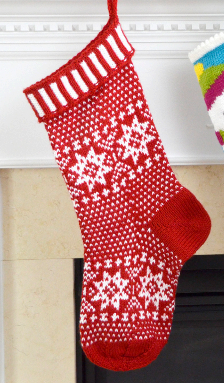 Free Knitting Pattern for Scandinavian Stocking