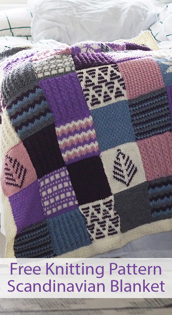 Free Knitting Pattern for Scandinavian Sampler Blanket