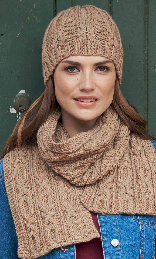 Knitting Pattern for Hugs and Kisses Hat, Scarf, and Mittens