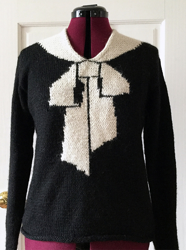 Free Knitting Pattern for Schiaparelli Bowknot Sweater