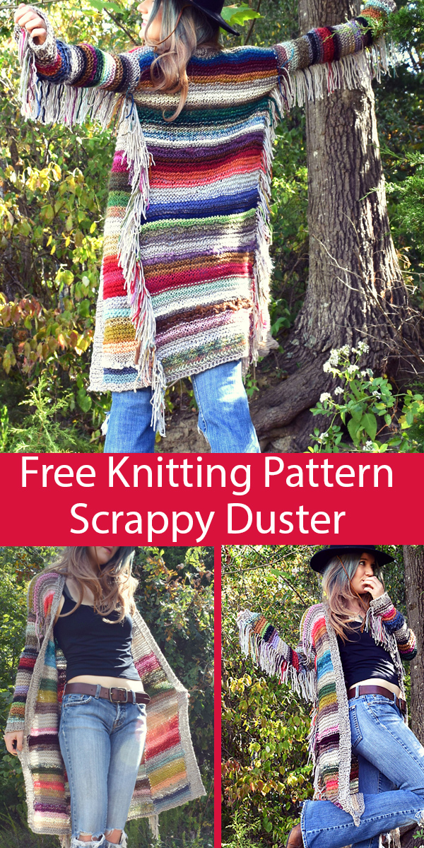 Free Knitting Pattern for Scrappy Duster