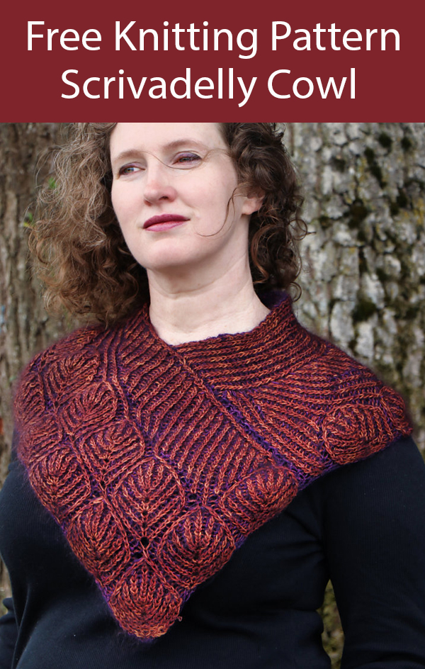 Free Knitting Pattern Scrivadelly Cowl
