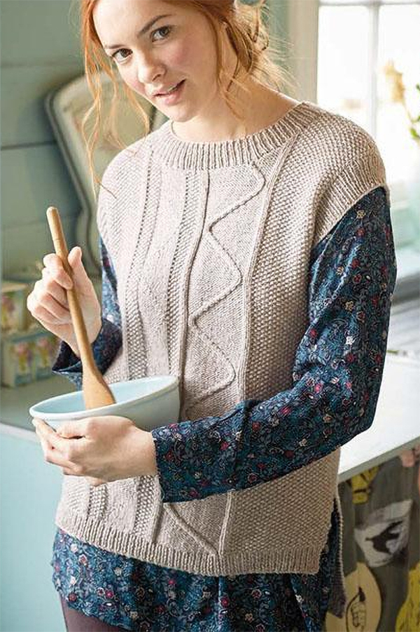 Free Knitting Pattern for Scroll Vest