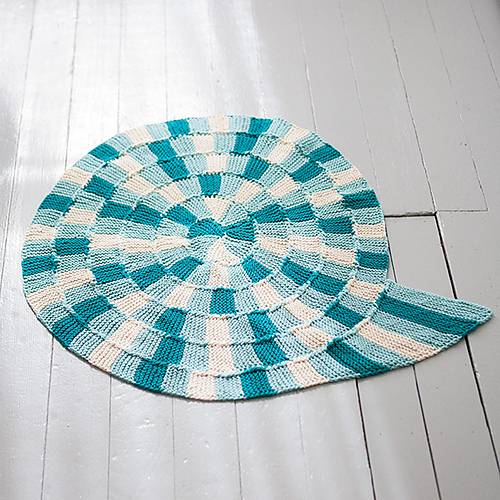 Free Knitting Pattern for Spiral Bath Mat