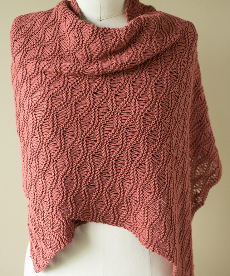 Free Knitting Pattern for Seafoam Scarf & Wrap