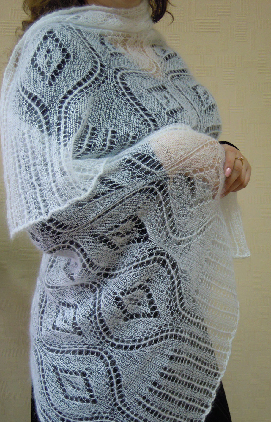 Free Knitting Pattern for Seascape Stole