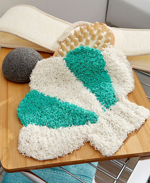 Free Knitting Pattern for Seashell Scrubby