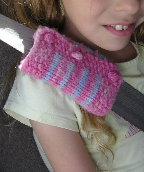 Free Knitting Pattern for Seat Belt Cozy